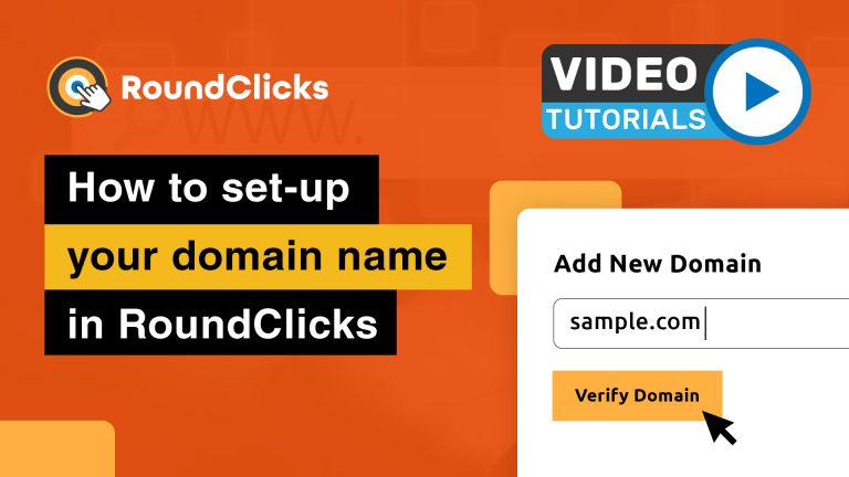 Set-up your domain name in RoundClicks